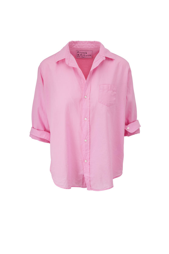 Frank & Eileen Eileen Flamingo Voile Relaxed Fit Button Down