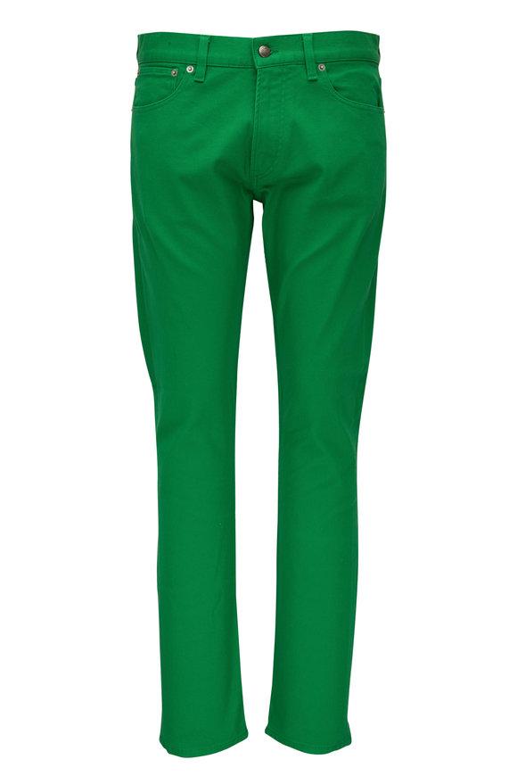 Ralph Lauren Kelly Green Five Pocket Slim Fit Jean