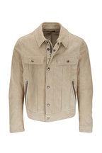 Tom Ford - Light Beige Suede Western Jacket
