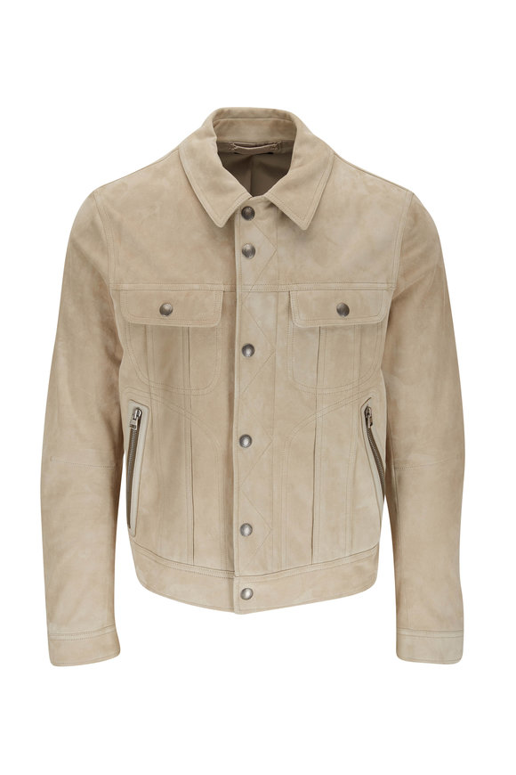 Tom Ford Light Beige Suede Western Jacket
