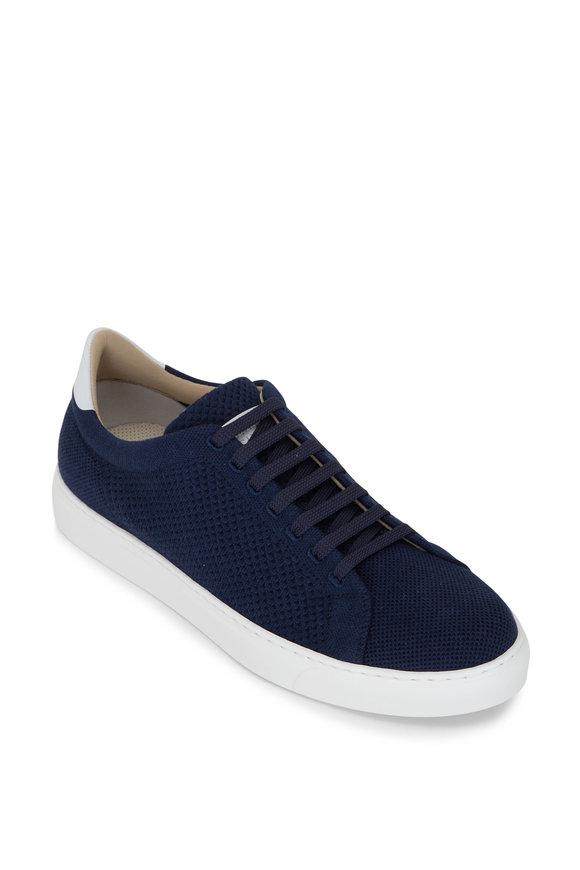 Brunello Cucinelli Navy Knit Sneaker