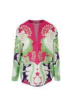 Valentino - Multicolor Arrozo Print Beaded Tunic