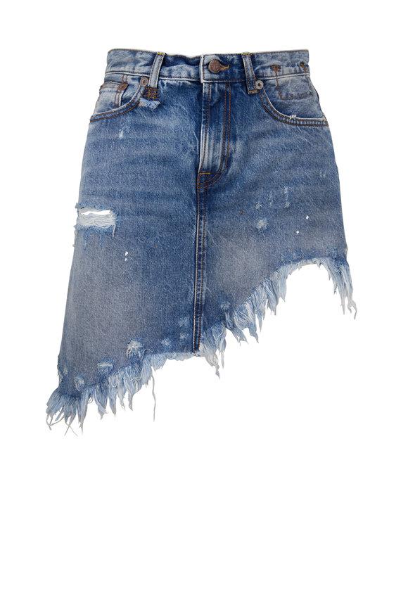 R13 Jasper Denim Asymmetrical Hem Skirt