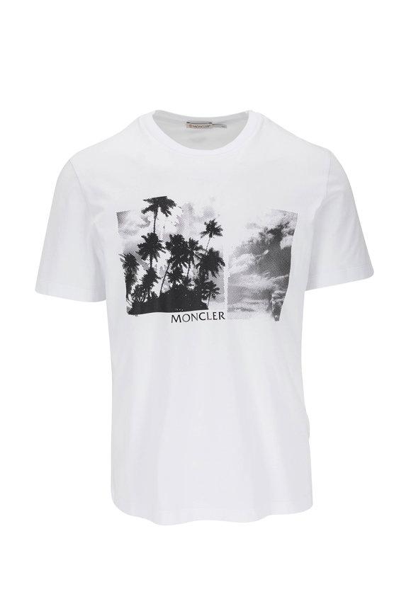 Moncler White Graphic T-Shirt