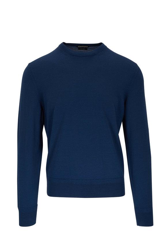 Tom Ford Petrol Wool Crewneck Sweater
