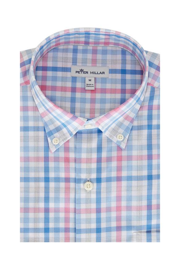 Peter Millar Crown Ease Wells Blue River Sport Shirt