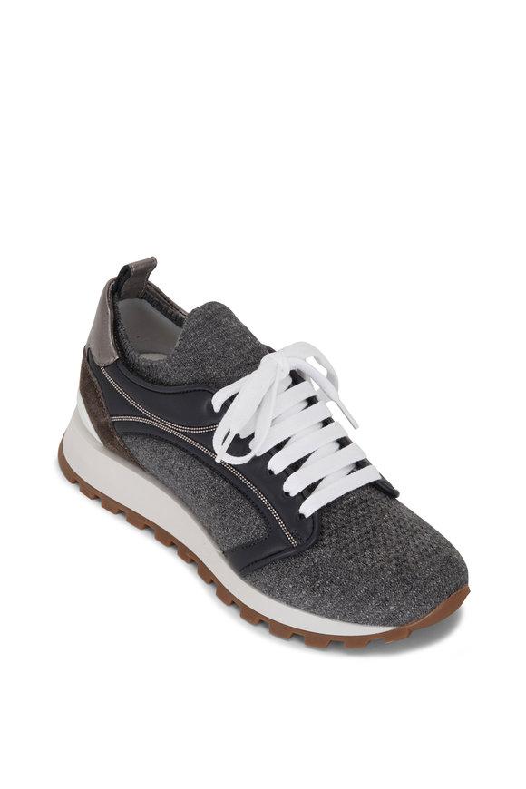Brunello Cucinelli Gray Knit Runner