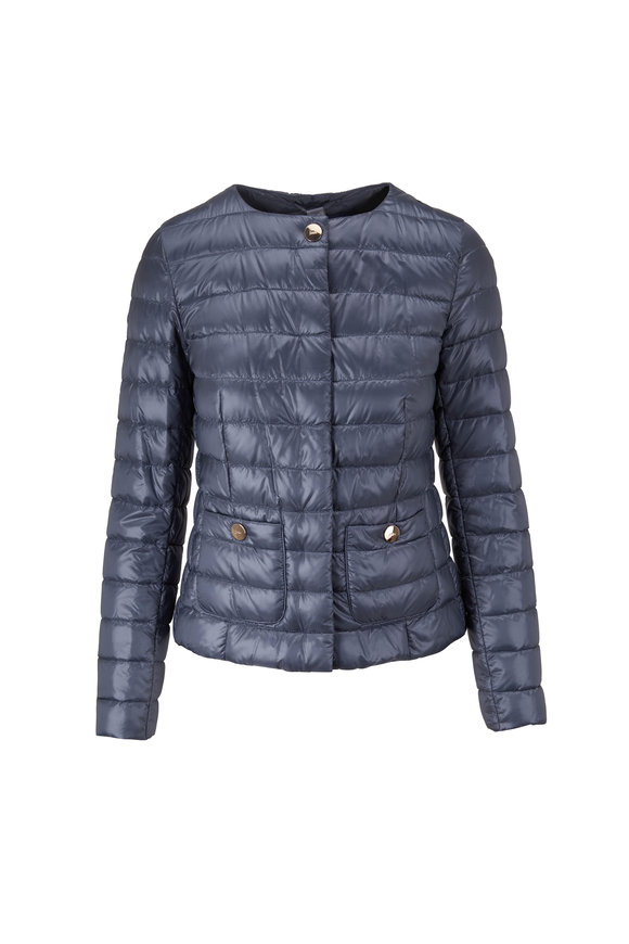 Herno Classic Blue Fitted Puffer Jacket