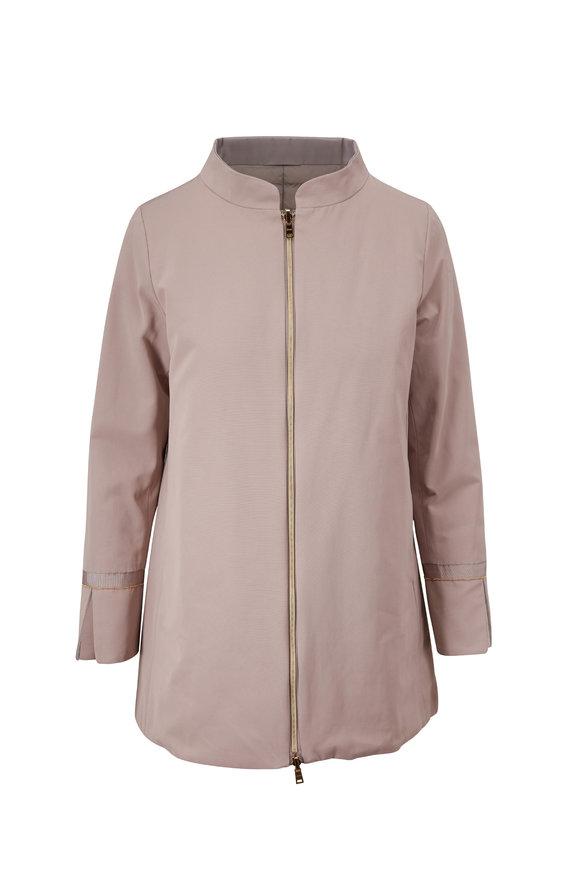Herno Beige Shantung Reversible Puffer Coat