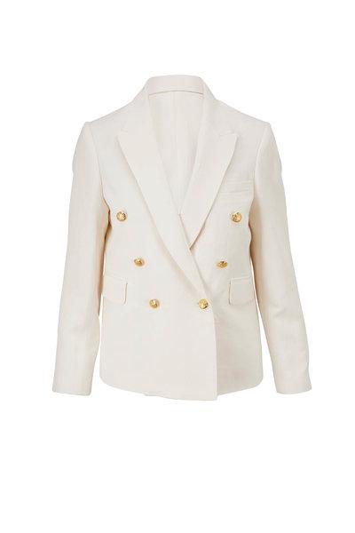 Nili Lotan - Henry Ivory Double-Breasted Jacket