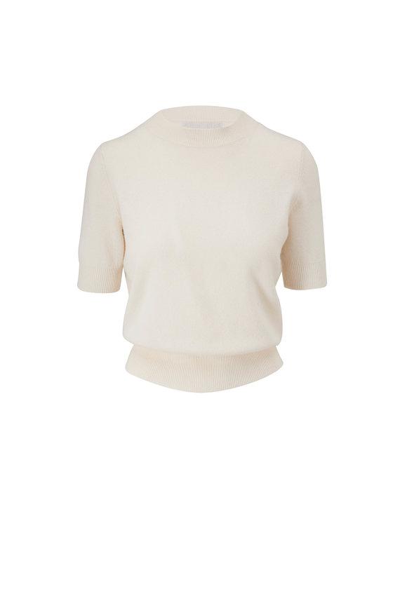 Nili Lotan Andie Ivory Cashmere Crewneck Sweater