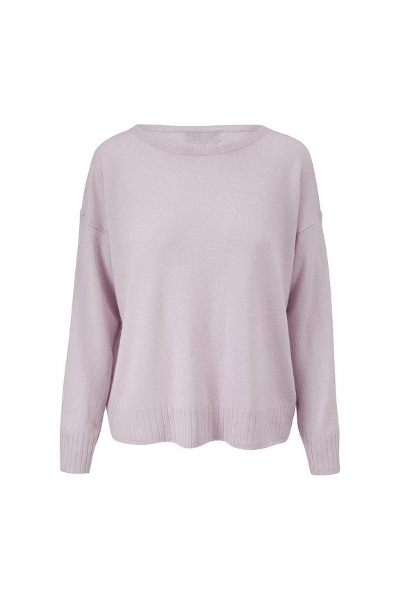 Nili Lotan Lilac Cashmere Boyfriend Sweater