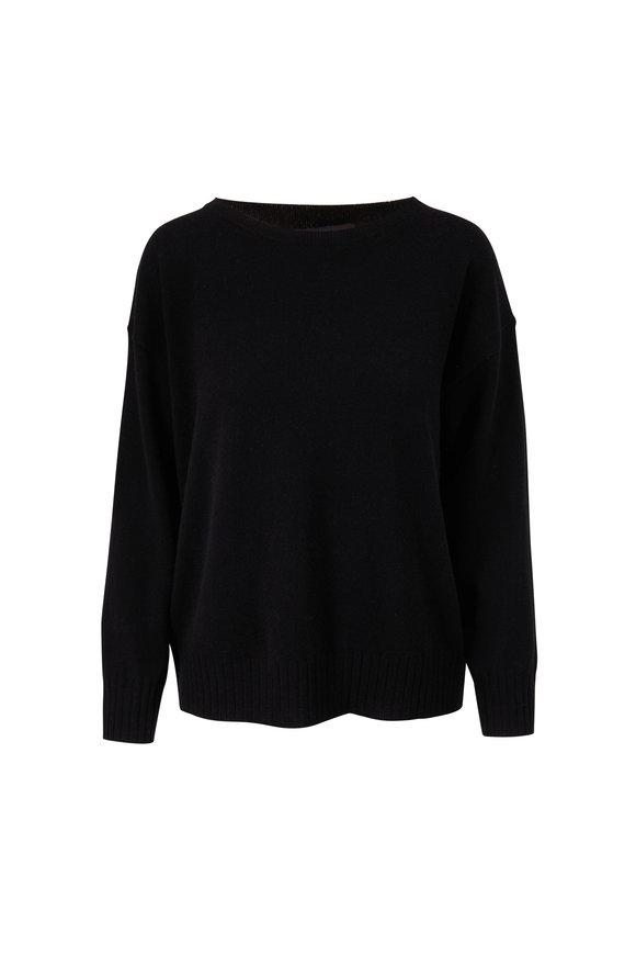 Nili Lotan Black Cashmere Boyfriend Sweater