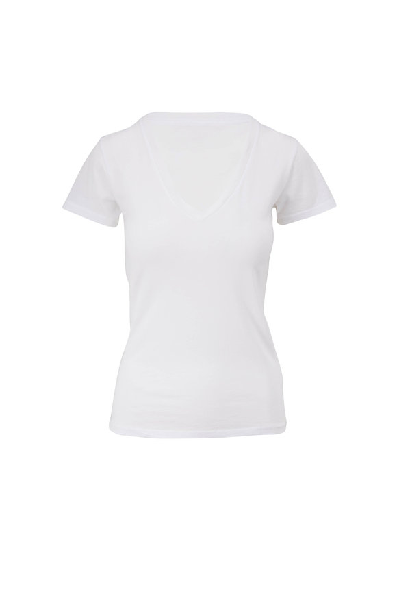Nili Lotan Carol White V-Neck T-Shirt
