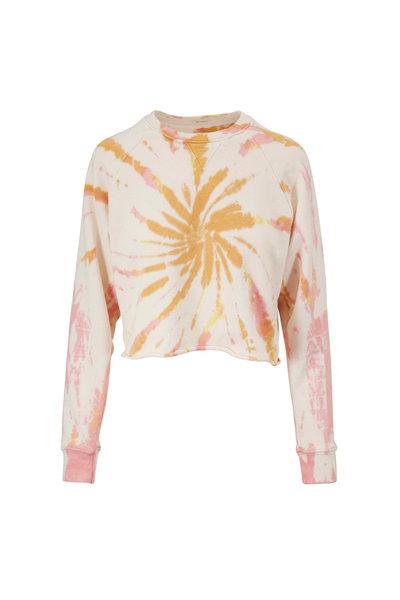Mother Denim - The Loafer Fray Lemon Tie Dye Sweatshirt