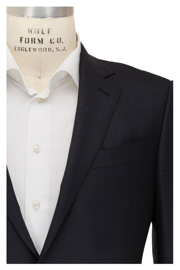 Ermenegildo Zegna 15 Mil Mil 15 Gray Tonal Windowpane Wool Suit