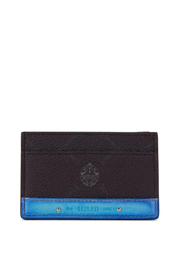 Berluti Black & Blue Leather Card Case