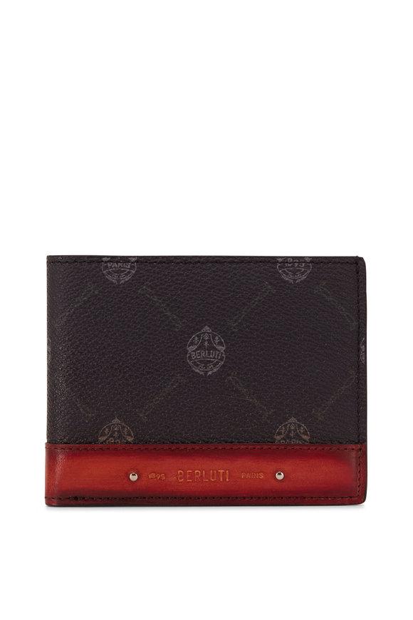 Berluti Excursion Black & Orange Leather Wallet