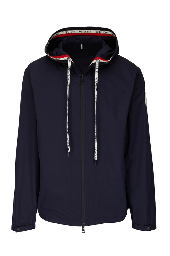 Moncler Navy Blue Hooded Windbreaker