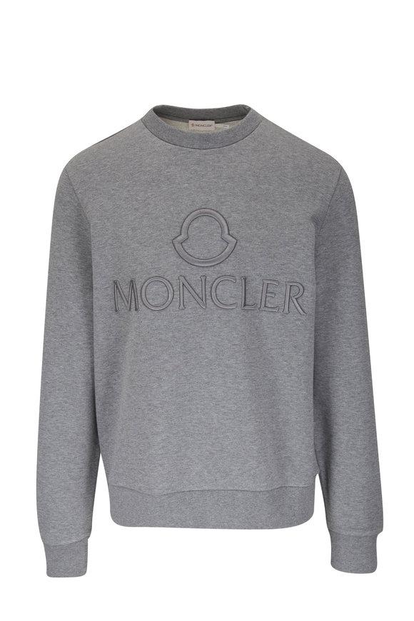 Moncler Gray Logo Embossed Sweatshirt