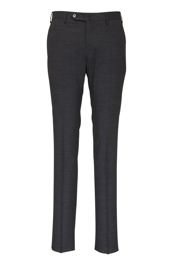 PT Torino Gray Techno Wool Slim Fit Pant