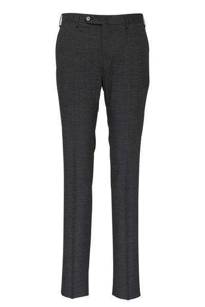 PT Torino - Gray Techno Wool Slim Fit Pant