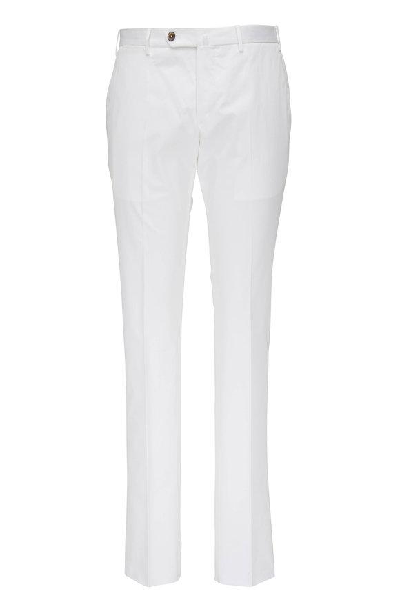 PT Torino White Superfine Cotton Slim Fit Pant