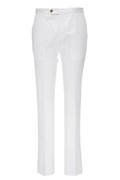 PT Torino - White Superfine Cotton Slim Fit Pant