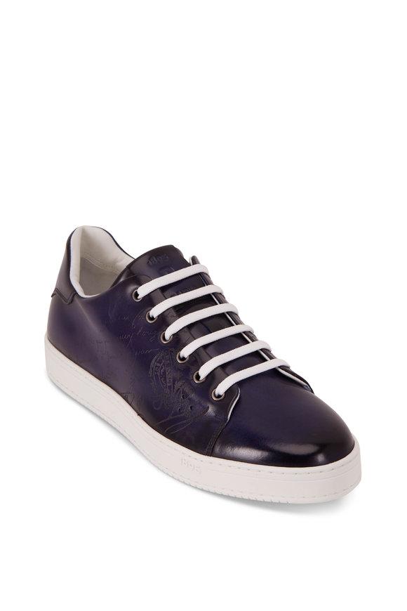 Berluti Cobalt Blue Leather Sneaker
