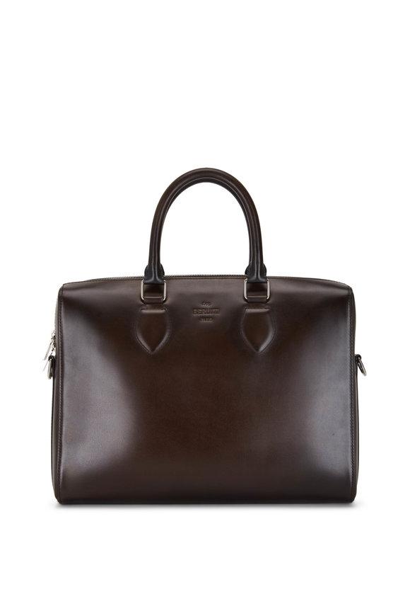 Berluti Daily Dark Brown Leather Bag