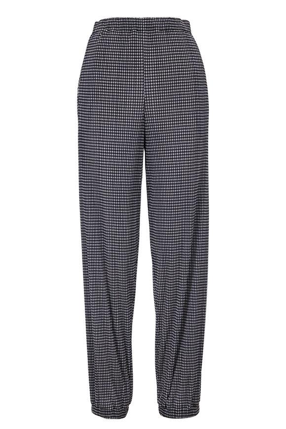 Giorgio Armani Black & White Houndstooth Jersey Pant