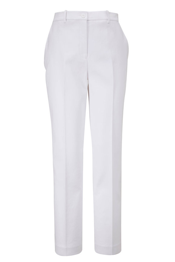 Michael Kors Collection Samantha White Cotton Pant
