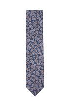 Eton - Light Blue Paisley Silk Necktie
