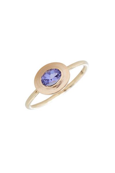 Loriann - 18K Yellow Gold Sleeping Beauty Turquoise Ring
