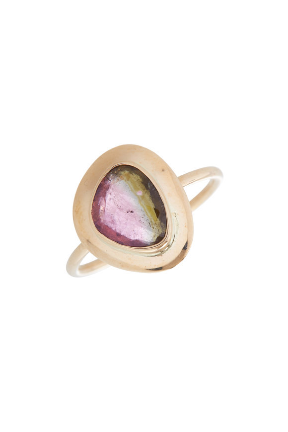 Loriann 18K Yellow Gold Watermelon Tourmaline Ring