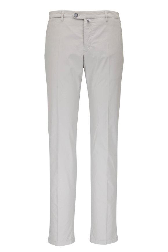 Kiton Khaki Stretch Cotton Pant