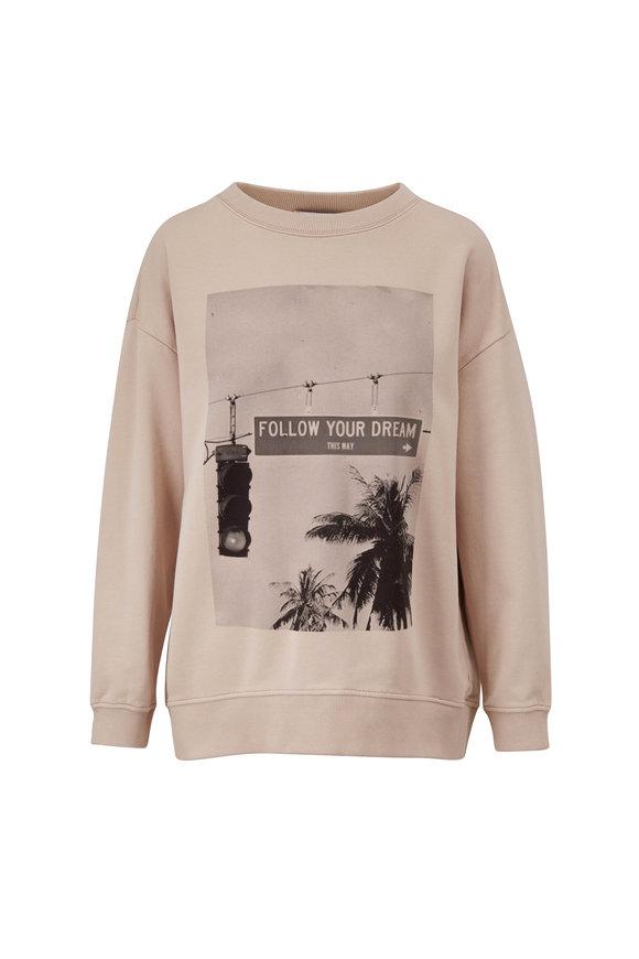 Dorothee Schumacher Casual Coolness Stone Photo Print Sweatshirt