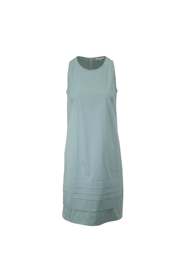 Antonelli Liana Mint Tiered Hem Sleeveless Dress