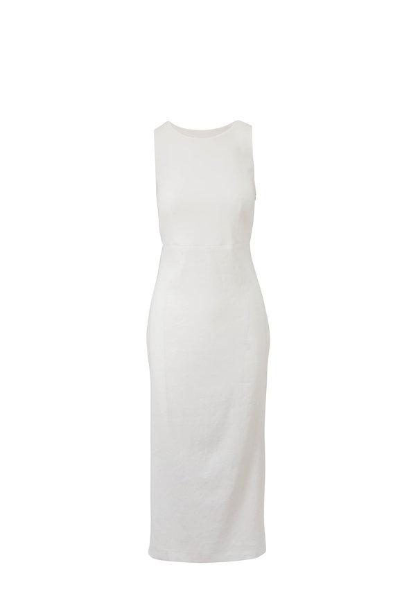 Antonelli Nicla White Linen Criss-Cross Back Dress