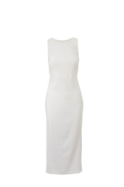 Antonelli - Nicla White Linen Criss-Cross Back Dress