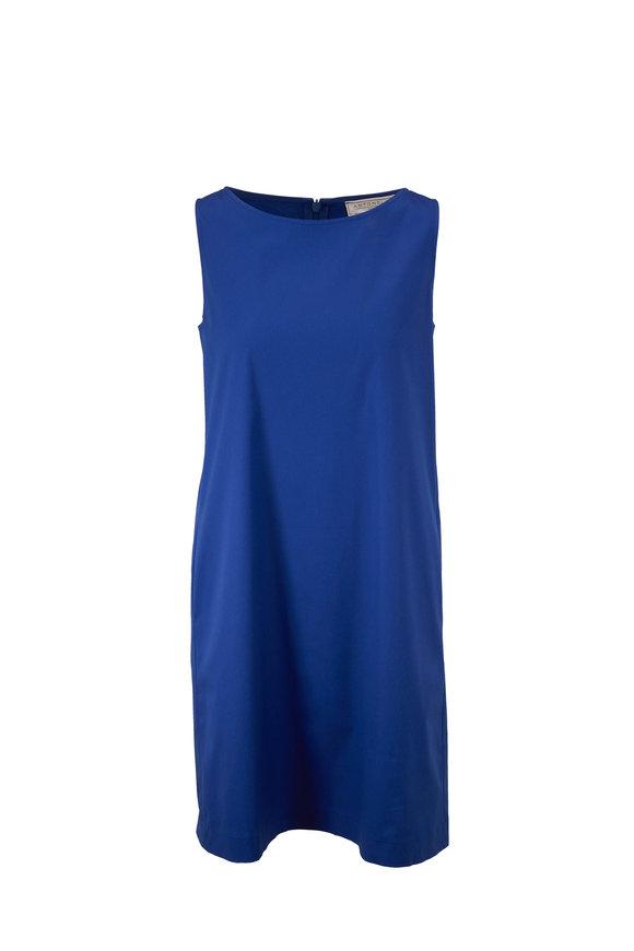 Antonelli Lilium Blue Sleeveless Shift Dress