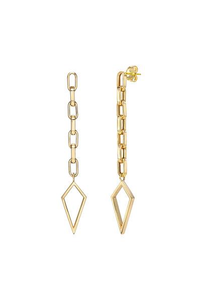 Dru - 14K Yellow Gold Baby Amulet Dangle Earrings