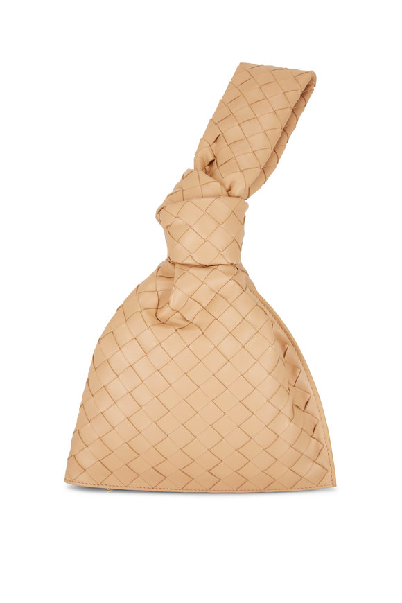 Bottega Veneta The Mini Twist Almond Woven Leather Bag