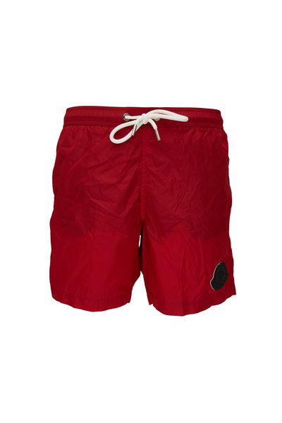 Moncler - Red Logo Swim Trunks