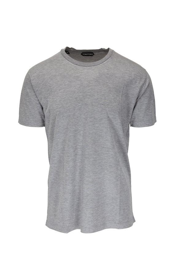 Tom Ford Gray Jersey Short Sleeve T-Shirt