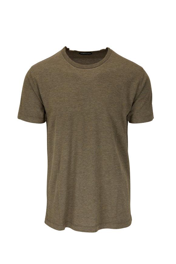 Tom Ford Mud Jersey Short Sleeve T-Shirt