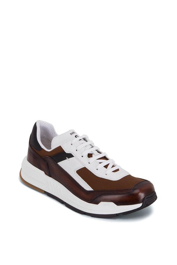 Berluti White & Brown Leather Sneaker