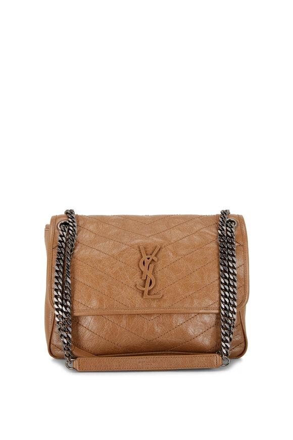 Saint Laurent Niki Monogram Tan Leather Medium Chain Bag