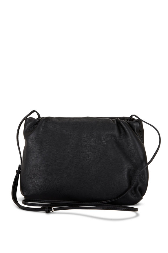 The Row Brouse Black Leather Clutch