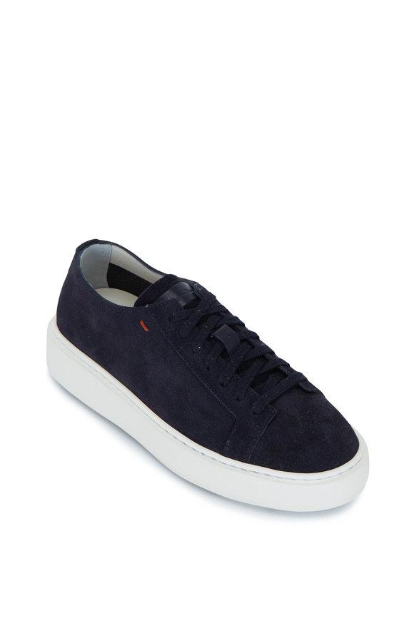Santoni Aphesis Navy Suede Sneaker
